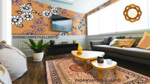 قالیچه لچک ترنج گل ریز